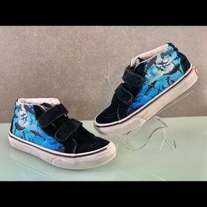 Kids VANS Shark Print Hi-Top Sneakers Size 13.5